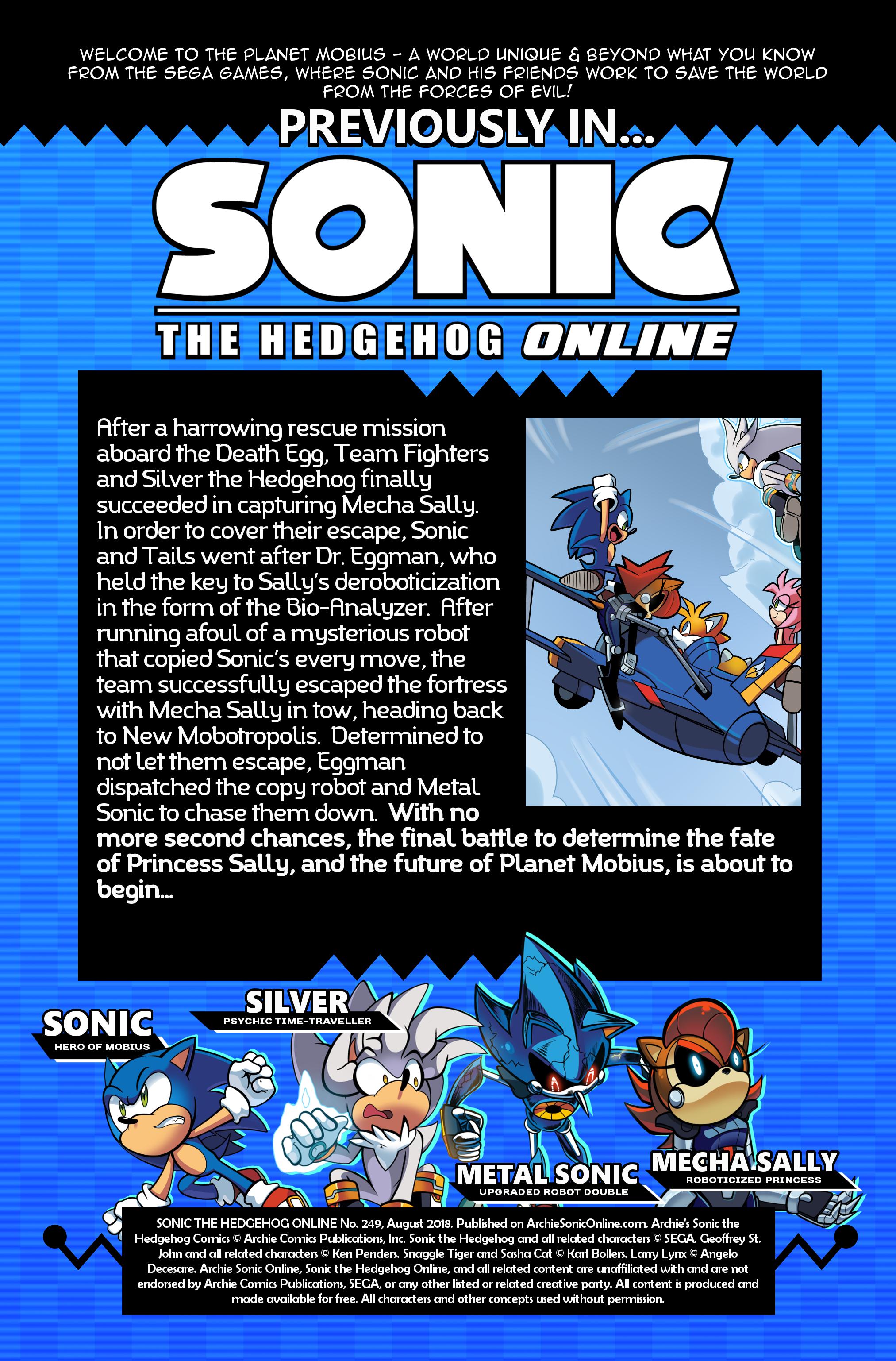 Sonic the Hedgehog Online #249 – Recap