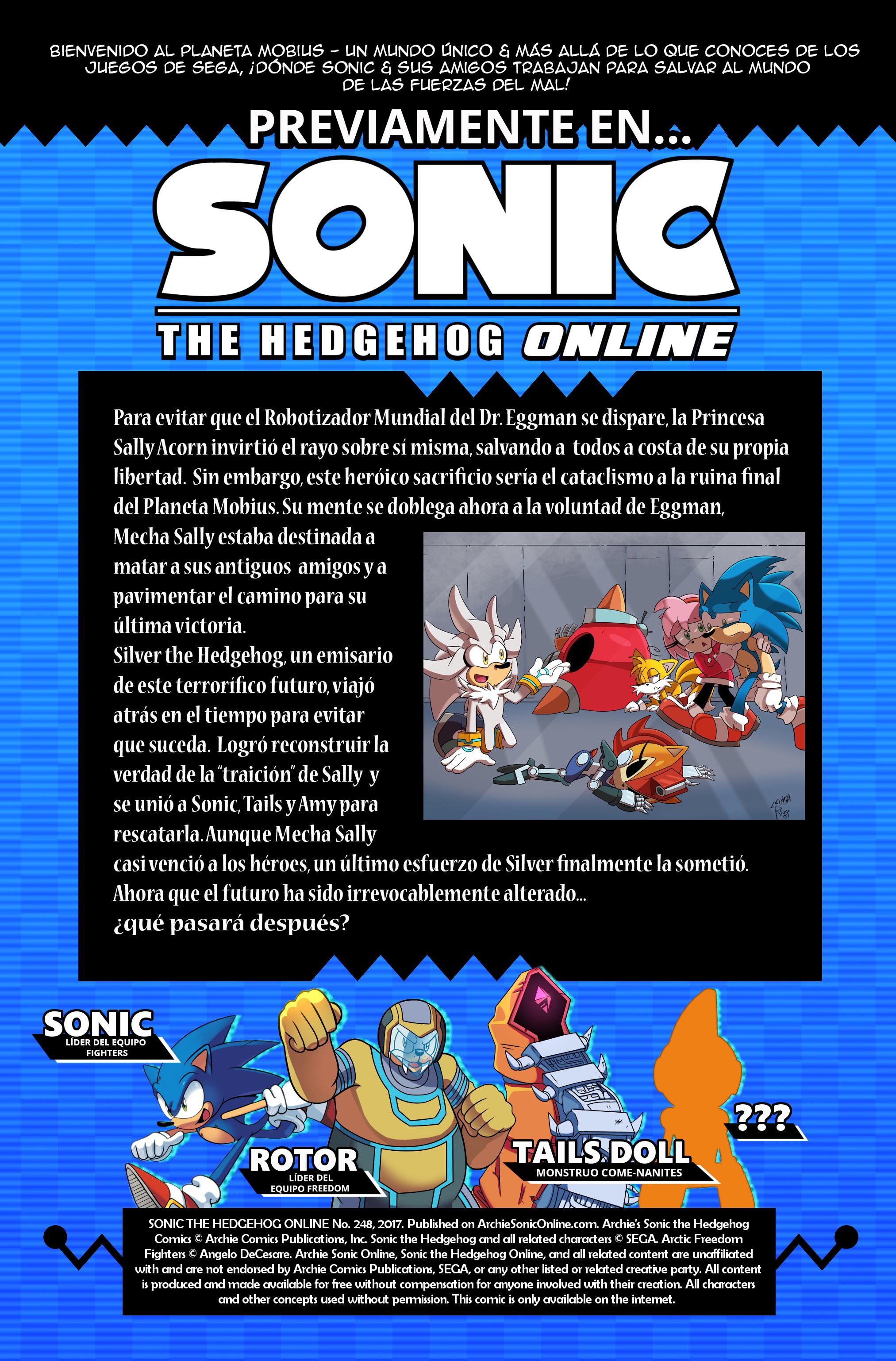 Sonic the Hedgehog Online #248 – Recap – Spanish