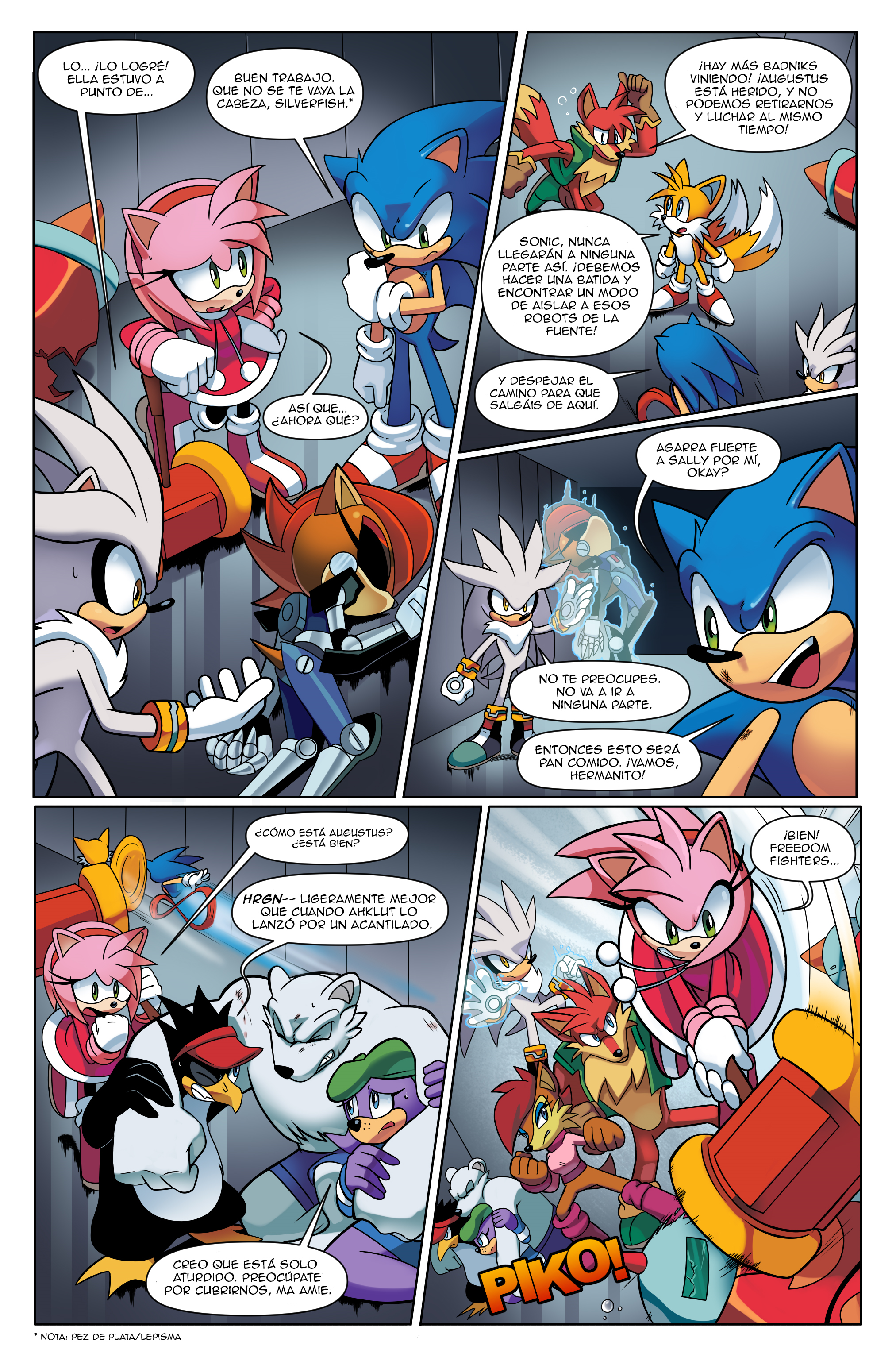 "Sonic the Hedgehog Online #248 – ""At All Costs, Part 2"" – Page 1 – Spanish"