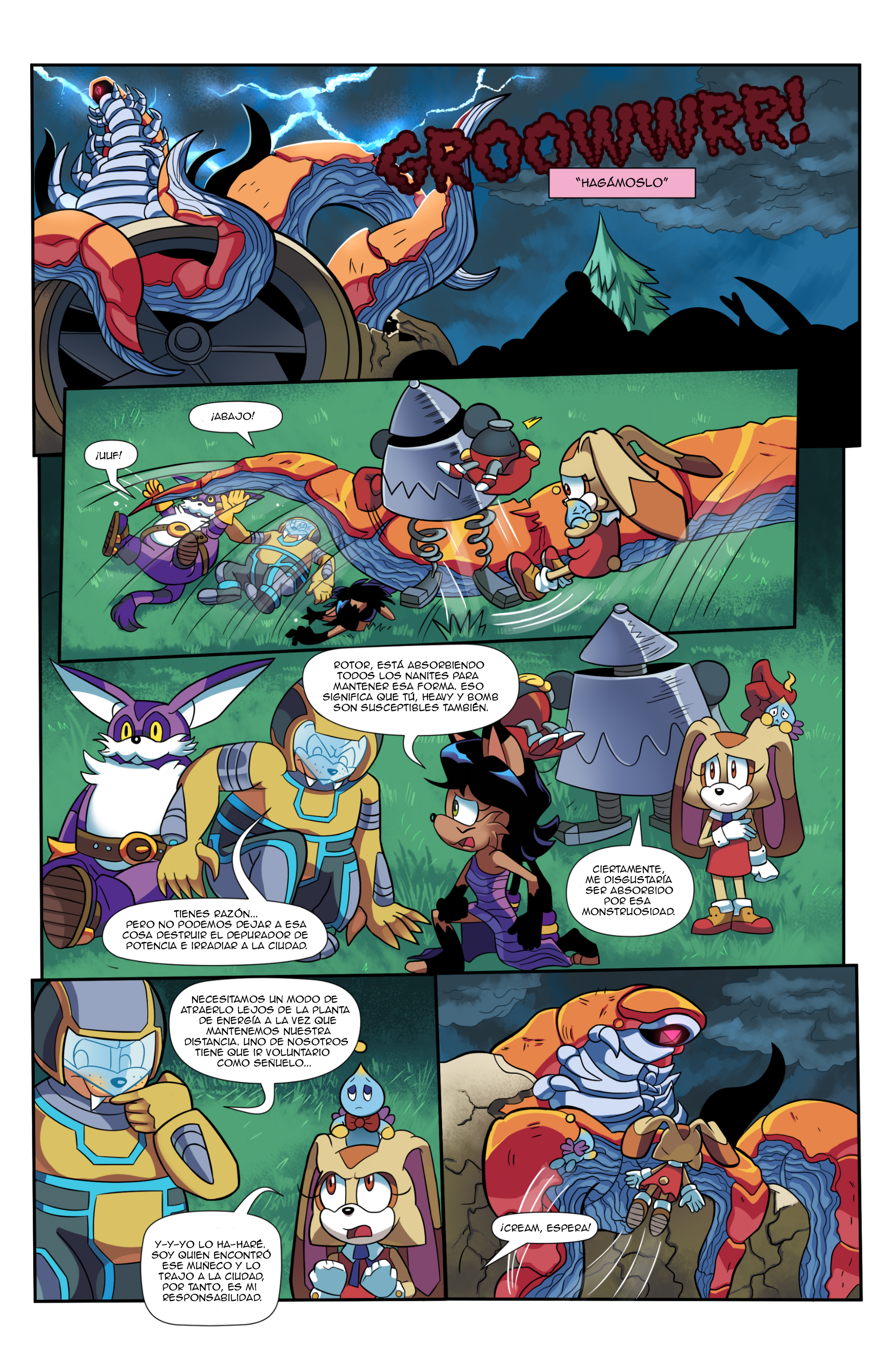 "Sonic the Hedgehog Online #248 – ""At All Costs, Part 2"" – Page 2 – Spanish"