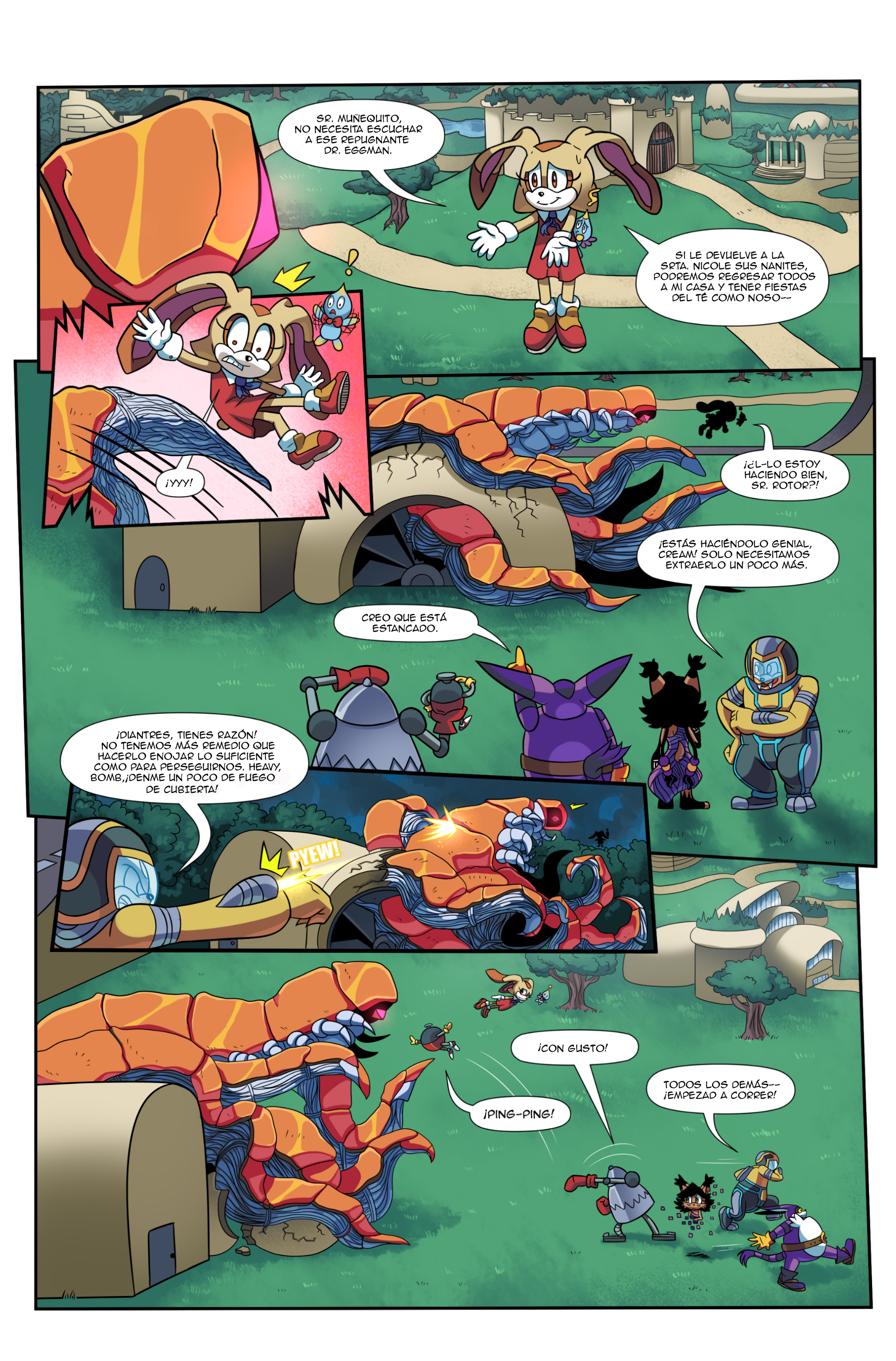 "Sonic the Hedgehog Online #248 – ""At All Costs, Part 2"" – Page 3 – Spanish"