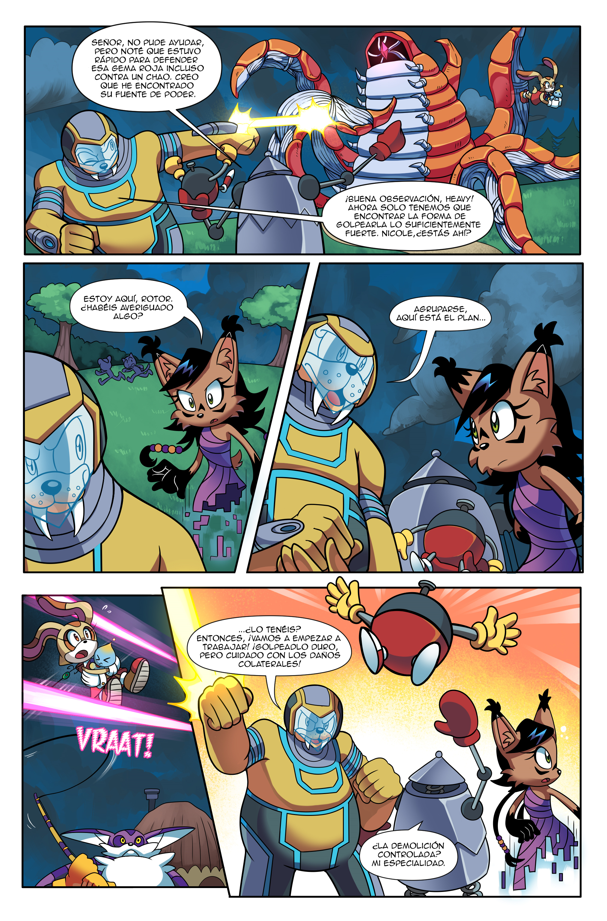 """Sonic the Hedgehog Online #248 – """"At All Costs, Part 2"""" – Page 7 – Spanish"""