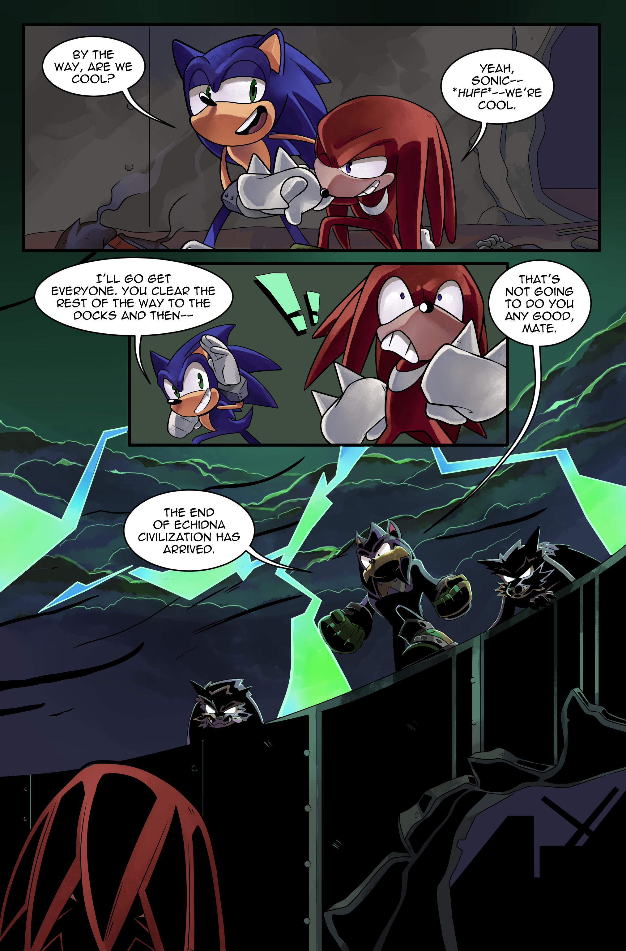 "Knuckles: Endangered Species #1 – ""Endangered Species, Part 2"" – Page 20"